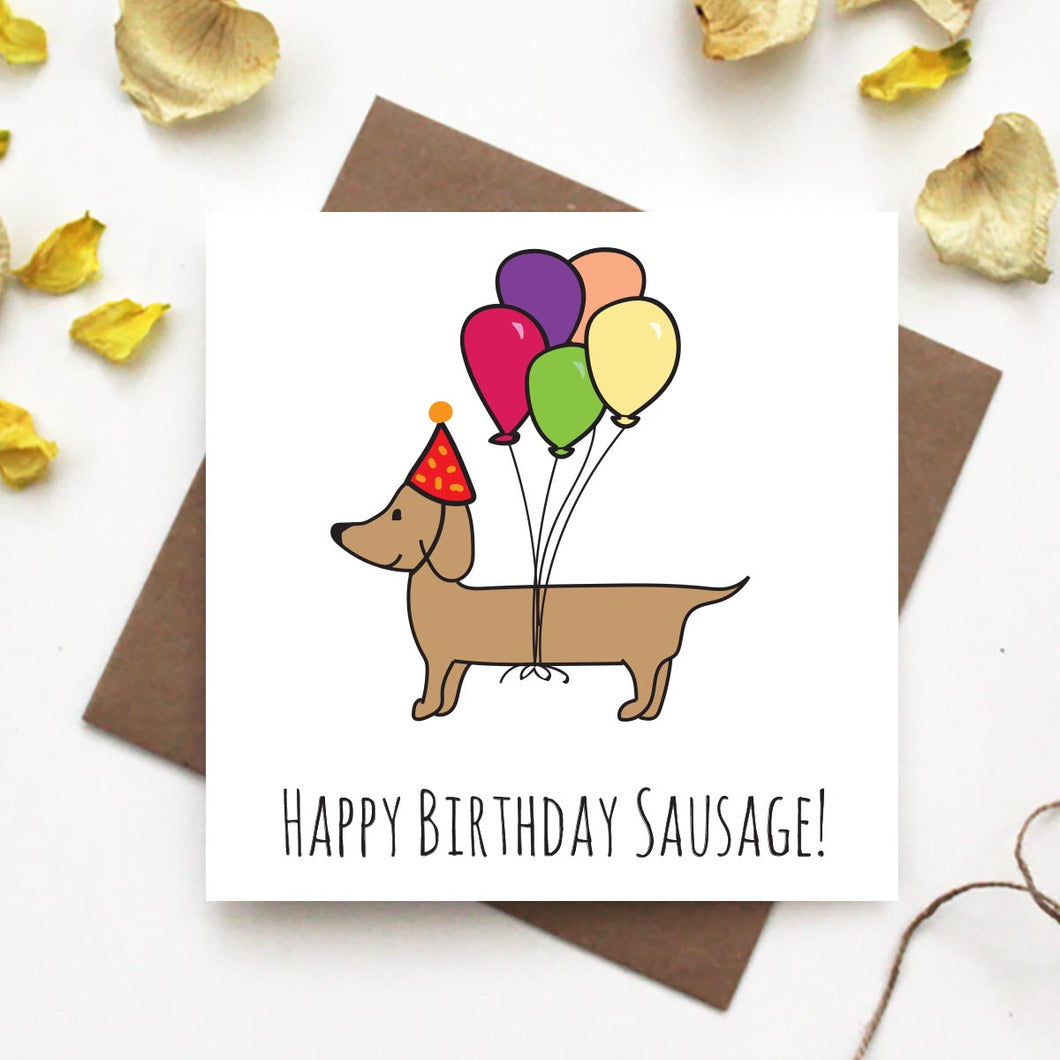 Dachshund Happy Birthday Greeting Card