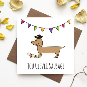 Dachshund Graduation Greeting Card