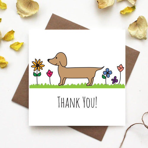 Dachshund Thank you Greeting Card