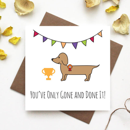 Dachshund Well Done Greeting Card