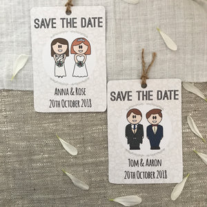 Save the Date Gay Wedding Magnet