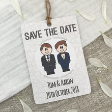 Load image into Gallery viewer, Save the Date Gay Wedding Magnet