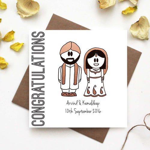 Personalised Congratulations Indian Wedding Card