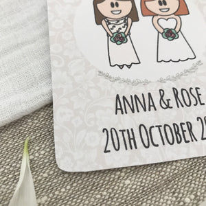 Save the Date Lesbian Wedding Magnet
