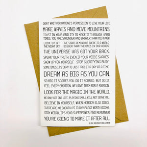 Motivational Quote Greeting Card