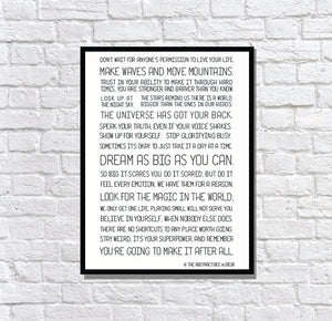 Motivation Manifesto Quote Poster