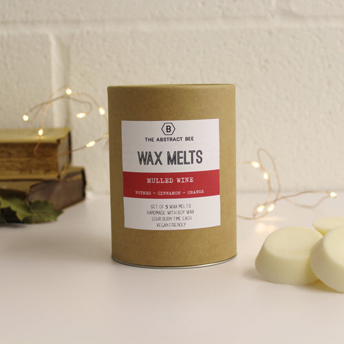 Mulled Wine Christmas Wax Melts 5 pack