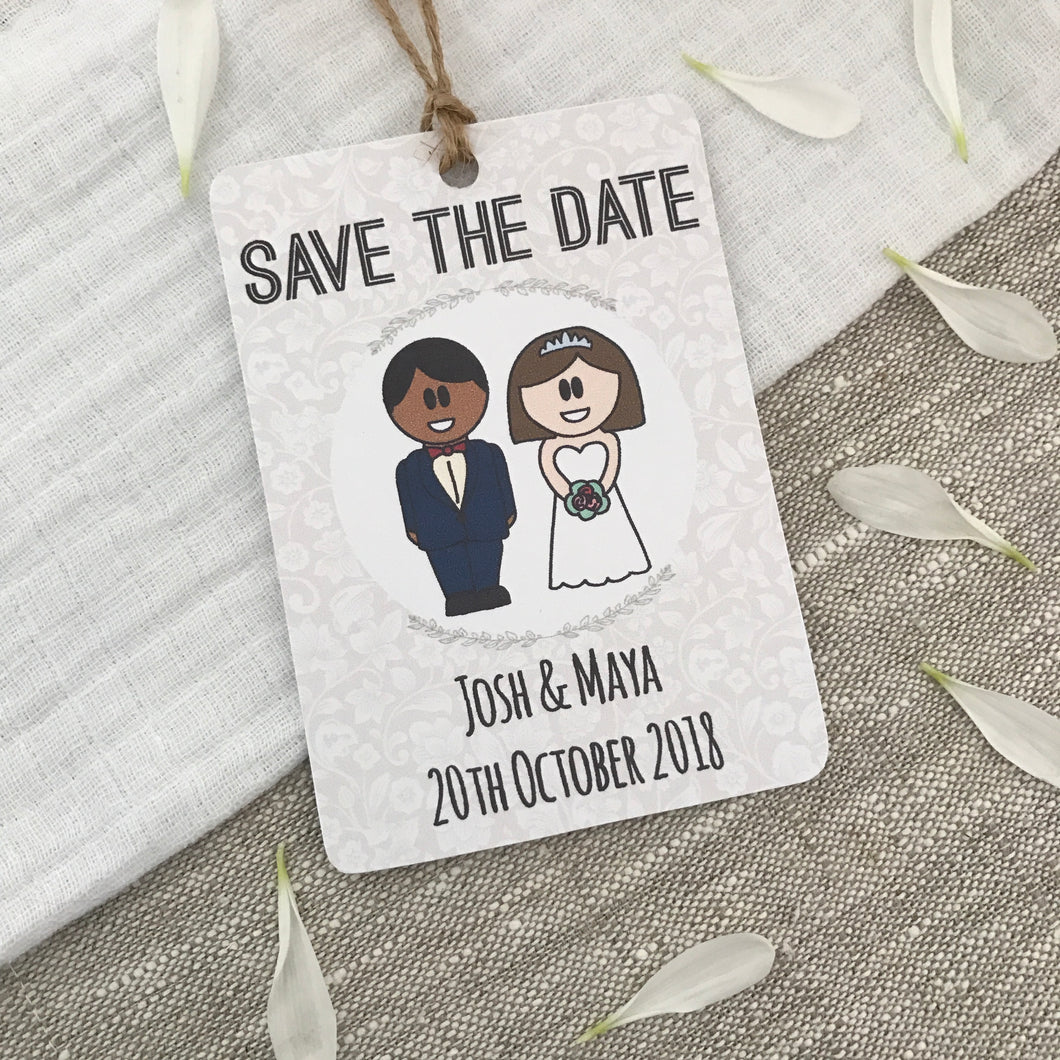 Save the Date Wedding Magnet