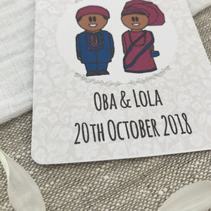 Save the Date Nigerian Wedding Magnet