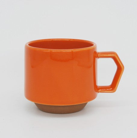 Orange porcelain mug