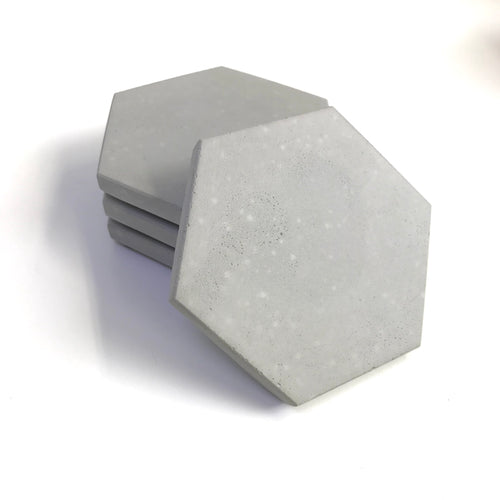 Concrete Hexagon Coasters
