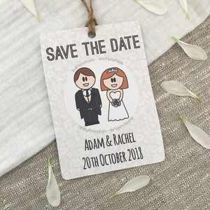 Save the Date Wedding Magnet- Morning Suit