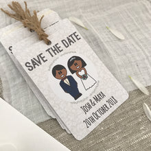 Load image into Gallery viewer, Save the Date Wedding Magnet- Morning Suit