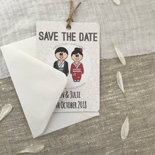 Load image into Gallery viewer, Save the Date Lesbian Wedding Magnet