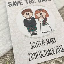 Load image into Gallery viewer, Save the Date Scottish Wedding Magnet