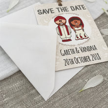 Load image into Gallery viewer, Indian Sikh Dress Save the Date Wedding Magnet
