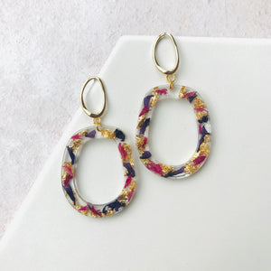 Gold Statement Resin Earrings