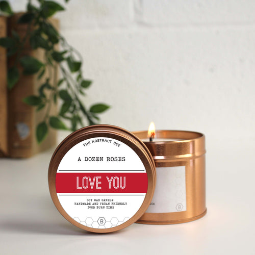 A Dozen Roses 'Love You' Scent Tin Candle