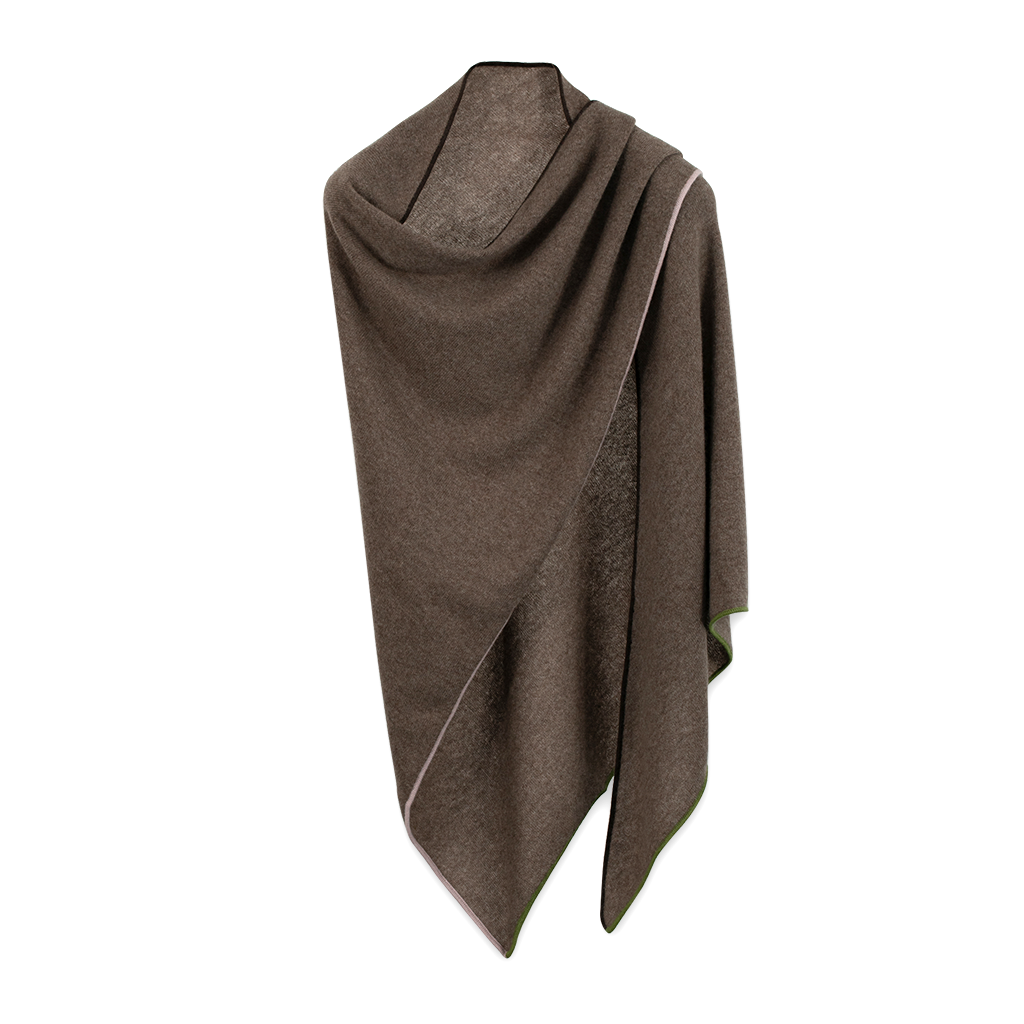 Cavalese Schultertuch Cashmere Taupe