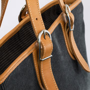 Corda Handtasche Canvas Cord Anthrazit