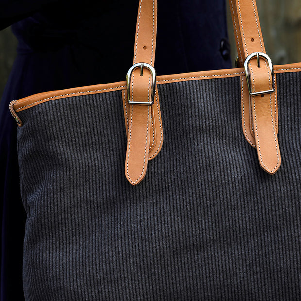 Cordo Handtasche Canvas Cord Anthrazit