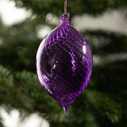 Danieli Christbaumkugel Olivenform Violett