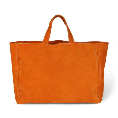 Lugano Shopper Leder Orange