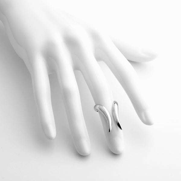 Tusk - Small Double Tusk Midi Ring