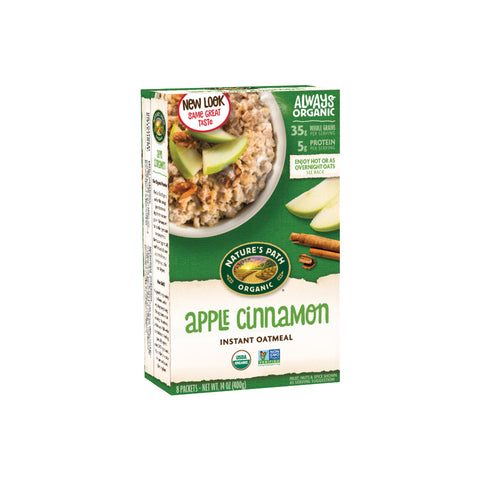 Nature's Path Organic Instant Oatmeal Apple Cinnamon 400g