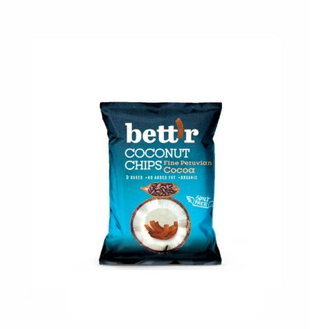 Bettr Organic Coconut Chips with Cocoa 40g