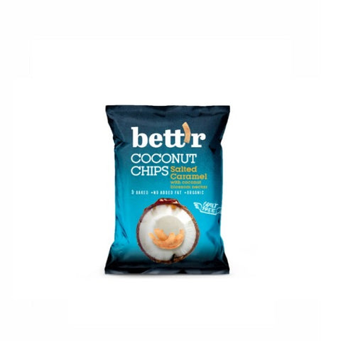 Bettr Organic Coconut Chips with Salted Caramel 40g