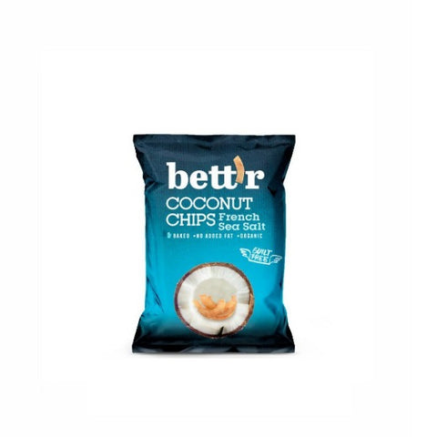 Bettr Organic Coconut Chips with French Sea Salt 40g