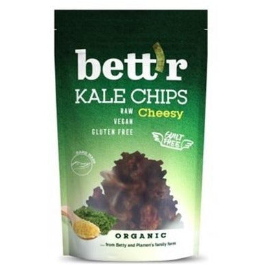 Bettr Organic Kale Chips with Vegan Cheese and Pepper 30g