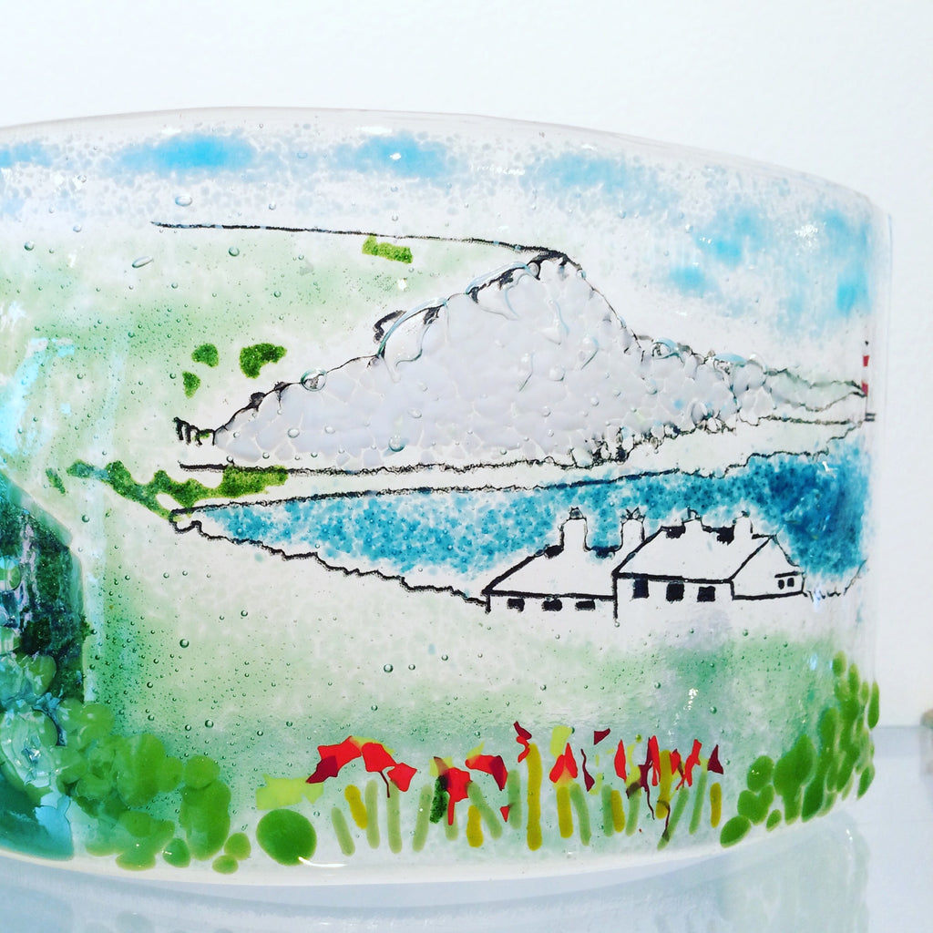 See how a fused glass creation comes together...