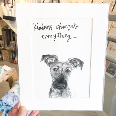 Animal quote print by Tipperley Hill