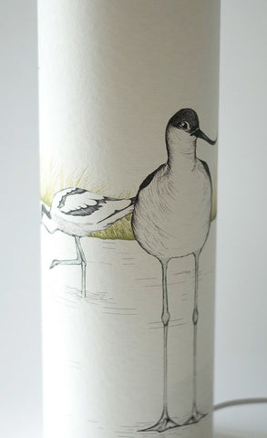 Avocet Lamp, soft parchment paper lighting from Little Beach Boutique