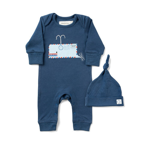 Whale Sleepsuit by From Babies with Love