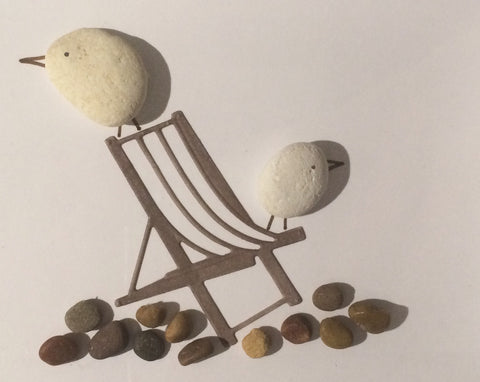 Pebble Bird Picture, handmade for Little Beach Boutique