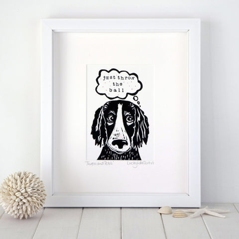 Cockapoo print by Lucky Lobster Art