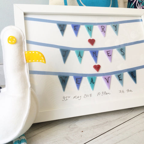 Great customer review for our personalised baby bunting commission for a newborn baby boy
