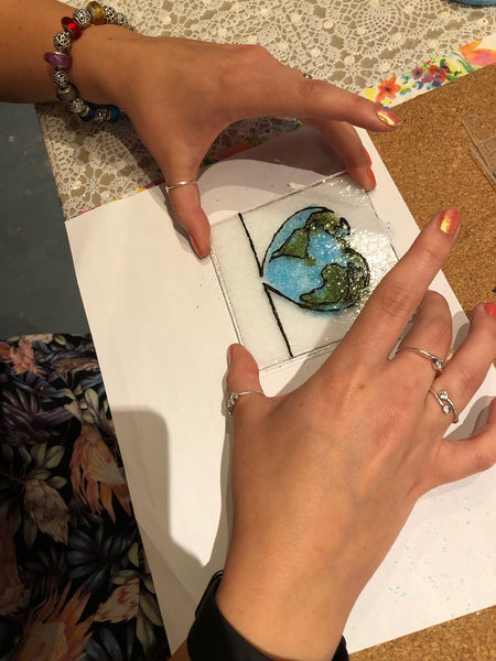 Make a fused glass coaster in our autumn workshops at Little Beach Boutique