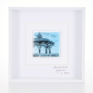 Brighton Bandstand, Framed Glass Tile