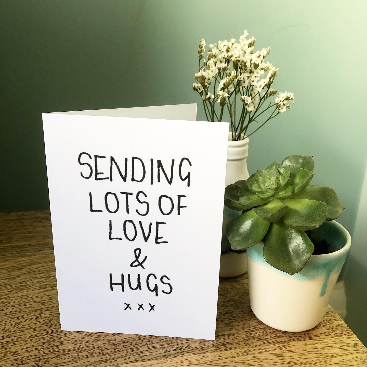 'Sending lots of love and hugs' Card