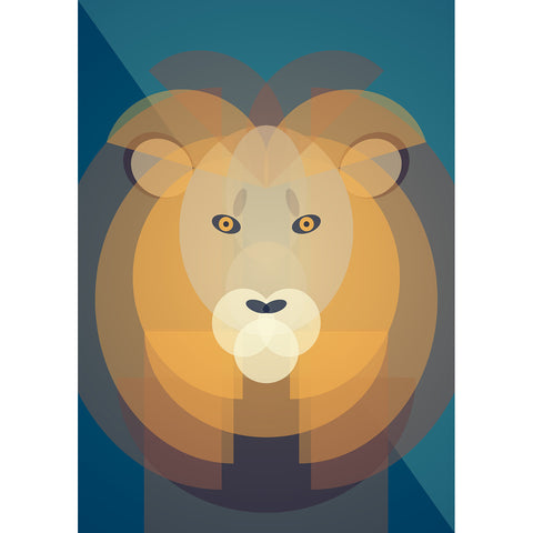 Lion Art Print by Cloud Cuckoo design