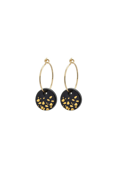 Black Haze Porcelain Earrings