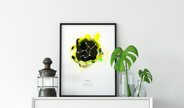 Virgo, Constellation Art Print, Zodiac Sign Art Print