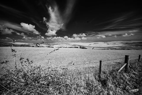 'South Downs' Black and White Photographic Print