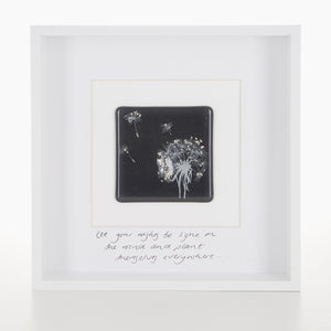 """Let You Wishes be Light on the Wind"" Dandelion Glass Tile Picture"