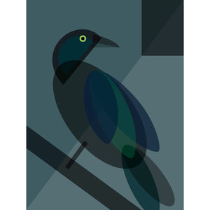 Black Bird Art Print by Cloud Cuckoo design