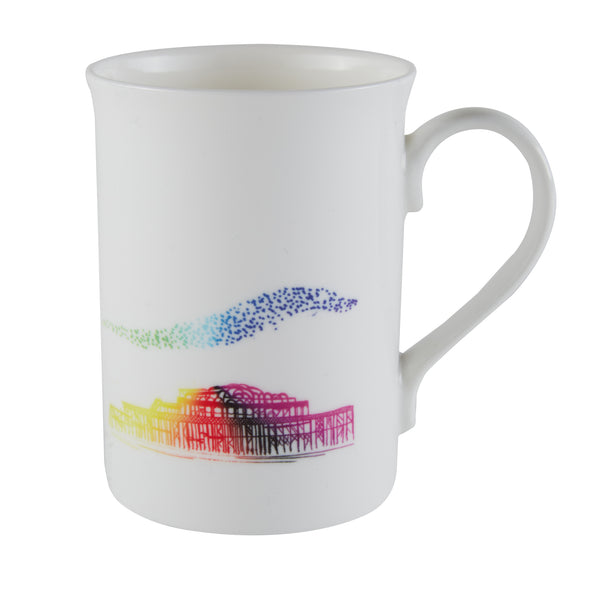 Colourful West Pier Mug